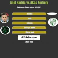 Anel Hadzic vs Akos Borbely h2h player stats