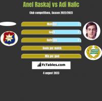 Anel Raskaj vs Adi Nalic h2h player stats