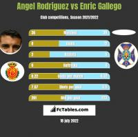 Angel Rodriguez vs Enric Gallego h2h player stats