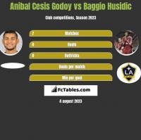Anibal Cesis Godoy vs Baggio Husidic h2h player stats