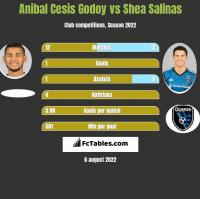 Anibal Cesis Godoy vs Shea Salinas h2h player stats