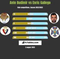 Ante Budimir vs Enric Gallego h2h player stats
