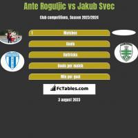 Ante Roguljic vs Jakub Svec h2h player stats
