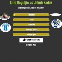 Ante Roguljic vs Jakub Kadak h2h player stats