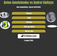 Anton Amelchenko vs Andrei Sinitsyn h2h player stats