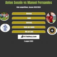 Anton Sosnin vs Manuel Fernandes h2h player stats
