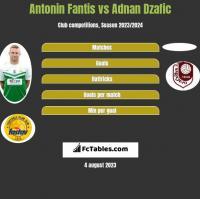 Antonin Fantis vs Adnan Dzafic h2h player stats