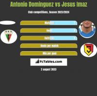 Antonio Dominguez vs Jesus Imaz h2h player stats