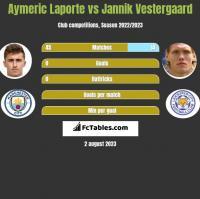 Aymeric Laporte vs Jannik Vestergaard h2h player stats