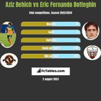 Aziz Behich vs Eric Fernando Botteghin h2h player stats