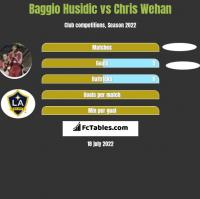 Baggio Husidic vs Chris Wehan h2h player stats