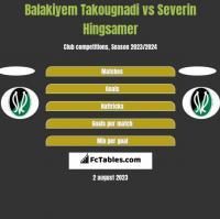 Balakiyem Takougnadi vs Severin Hingsamer h2h player stats