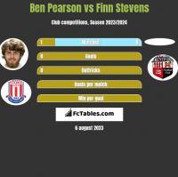Ben Pearson vs Finn Stevens h2h player stats