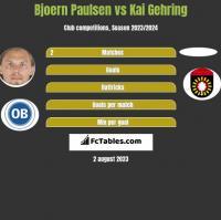 Bjoern Paulsen vs Kai Gehring h2h player stats