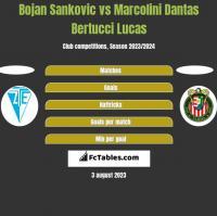 Bojan Sankovic vs Marcolini Dantas Bertucci Lucas h2h player stats
