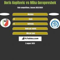 Boris Kopitovic vs Miha Goropevshek h2h player stats