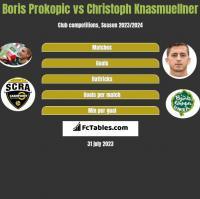 Boris Prokopic vs Christoph Knasmuellner h2h player stats