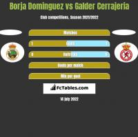 Borja Dominguez vs Galder Cerrajeria h2h player stats