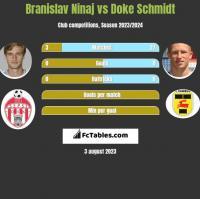Branislav Ninaj vs Doke Schmidt h2h player stats