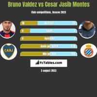 Bruno Valdez vs Cesar Jasib Montes h2h player stats