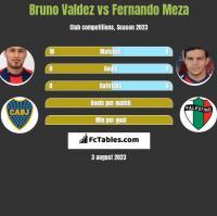 Bruno Valdez vs Fernando Meza h2h player stats