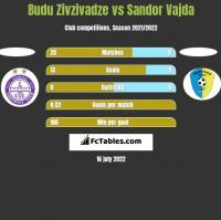 Budu Zivzivadze vs Sandor Vajda h2h player stats