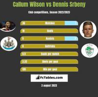 Callum Wilson vs Dennis Srbeny h2h player stats