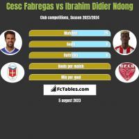 Cesc Fabregas vs Ibrahim Didier Ndong h2h player stats