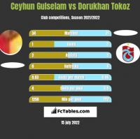 Ceyhun Gulselam vs Dorukhan Tokoz h2h player stats
