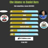 Che Adams vs Daniel Burn h2h player stats