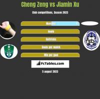 Cheng Zeng vs Jiamin Xu h2h player stats