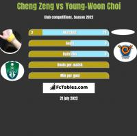 Cheng Zeng vs Young-Woon Choi h2h player stats