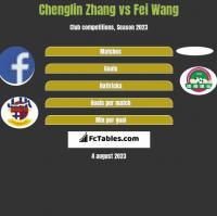 Chenglin Zhang vs Fei Wang h2h player stats