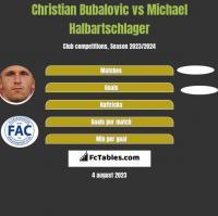 Christian Bubalovic vs Michael Halbartschlager h2h player stats