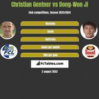 Christian Gentner vs Dong-Won Ji h2h player stats