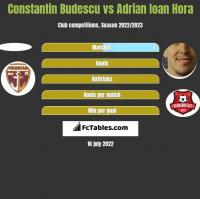 Constantin Budescu vs Adrian Ioan Hora h2h player stats