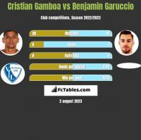 Cristian Gamboa vs Benjamin Garuccio h2h player stats