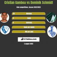 Cristian Gamboa vs Dominik Schmidt h2h player stats