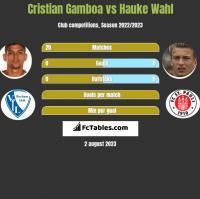 Cristian Gamboa vs Hauke Wahl h2h player stats