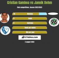 Cristian Gamboa vs Jannik Dehm h2h player stats