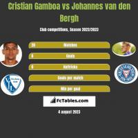 Cristian Gamboa vs Johannes van den Bergh h2h player stats