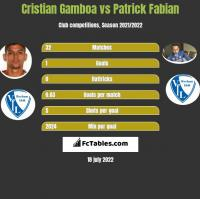 Cristian Gamboa vs Patrick Fabian h2h player stats