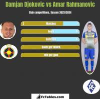 Damjan Djokovic vs Amar Rahmanovic h2h player stats