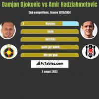 Damjan Djokovic vs Amir Hadziahmetovic h2h player stats