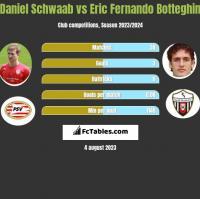 Daniel Schwaab vs Eric Fernando Botteghin h2h player stats