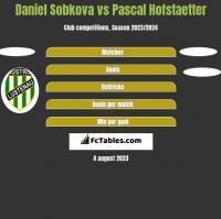 Daniel Sobkova vs Pascal Hofstaetter h2h player stats