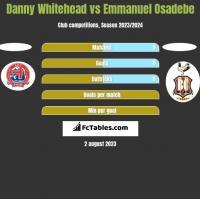 Danny Whitehead vs Emmanuel Osadebe h2h player stats