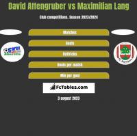 David Affengruber vs Maximilian Lang h2h player stats
