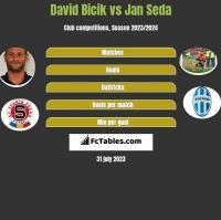 David Bicik vs Jan Seda h2h player stats