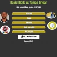David Bicik vs Tomas Grigar h2h player stats